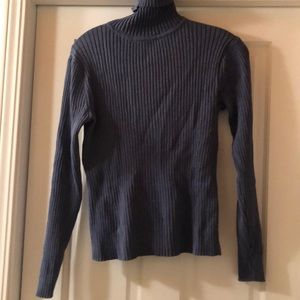 Pendleton blue ribbed turtleneck